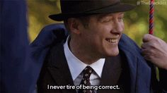 Sometimes Red says it better than you ever could. For more spot-on Red one-liners, tune in to The Blacklist, now on Thursdays at on NBC. Blacklist Tv Show, The Blacklist Quotes, James Spader Blacklist, Manado, Best Tv Shows, Favorite Tv Shows, Movies Showing, Movies And Tv Shows, Red Quotes