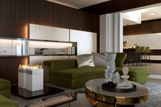 Interior of Luxury Kitchen and Living Room by Tolicci