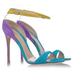 Gianvito Rossi multicolour suede sandals
