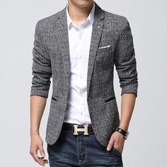 Men's suits and blazers in a variety of cuts and styles. Add a stylish twist to jeans or chinos with a blazer. Free shipping worldwide.