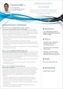 entry level administrative assistant resume template with photo