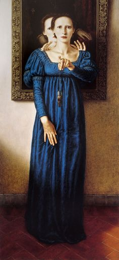 INCUBUS Egg tempera and oil / wood 120 x 55 cm. 1992 Dino valls