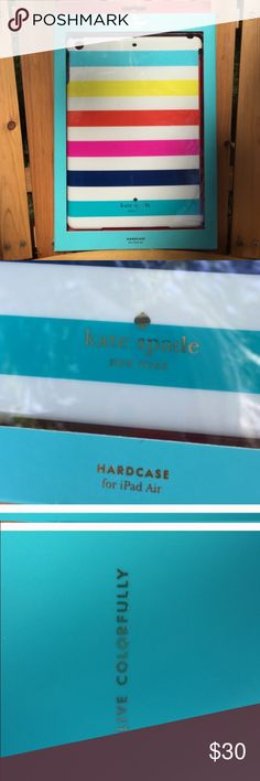 Kate Spade iPad Air cover! Kate Spade iPad air hard cover! New in original box! Live colorfully! kate spade Accessories Tablet Cases