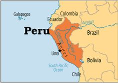 A map of Peru class=