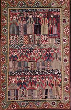 Norwegian Bed Carpets from the 1600s (I wondered about this while reading KRISTEN LAVRANSDATTER)
