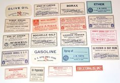 Lot of 20 Vintage Apothecary Labels Pharmacy for scrapbooking collage altered art crafts by scrapitsideways, $6.00