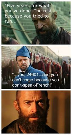 """Les Mis and VeggieTales for the win! """"Please, Javert...will you take me to the ball?"""" """"I can't dance."""""""