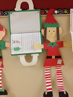 Elf crafts and of course they have to watch the movie Elf while doing these. duh.