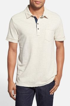 Regular Fit Slub Pique Polo