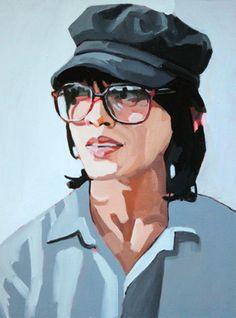 "Saatchi Online Artist Erin Fitzpatrick; Painting, ""Dex Fernandez"" #art"