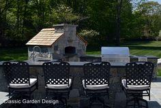 outdoor kitchen pizza oven westport ct classic garden design
