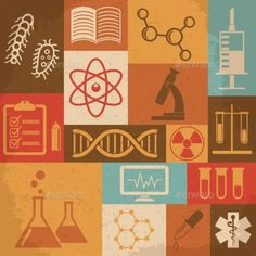 Retro Science Icons