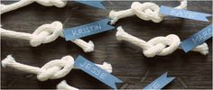 These are really sweet name tags, of course you will need someone who is good at tying knots, but very effective when finished.