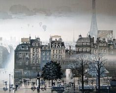 Rainy Day 1986 with Remarque by Hiro Yamagata