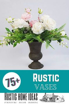 Whether you like fresh flowers or artificial flowers, you are going to need a vase to display them. Shop our wide selection of shapes and sizes and choose the rustic vase that is best for you. Flower Centerpieces, Flower Vases, Rustic Vases, Fresh Flowers, Artificial Flowers, Furniture Decor, Shapes, Display, Home Decor