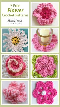 Seven free flower patterns Maggies crochet