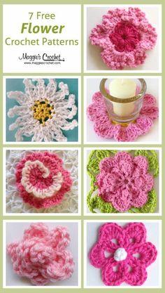Seven free flower patterns Maggies crochet
