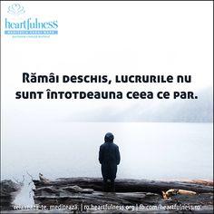 Rămâi deschis, lucrurile nu sunt întotdeauna ceea ce par. #heartfulness   #cunoaste_cu_inima   #hfnro Heartfulness Romania - Google+