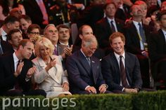 The Duke of Cambridge, the Duchess of Cornwall, the Prince of Wales and Prince Harry during the opening ceremony of The Invictus Games at the Queen Elizabeth Olympic Park, London.