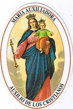 Blessed Mother Mary, Blessed Virgin Mary, Religious Paintings, Religious Art, St John Bosco, Pictures Of Mary, Prayer For Church, Sacred Heart Tattoos, Vintage Holy Cards