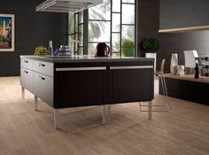 Carrelage sol cuisine saloni effet bois