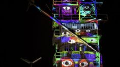 The Night is our Canvas, #Live Video Projection Art Created with #Tagtool