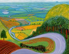 Reminds me of the Berkshire Downs where I grew up ~ David Hockney iPad Art