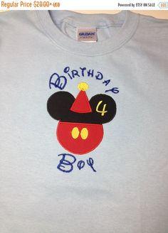 ON SALE Disney Birthday Boy Shirt  Youth by CreativeLifeboutique