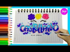 IDEAS PARA MARCAR TUS CUADERNOS-Cómo marcar cuaderno de Artística-Yaye - YouTube School Notebooks, Book Letters, Kawaii Doll, Letters And Numbers, Love Words, Copic, Diy And Crafts, Projects To Try, Doodles