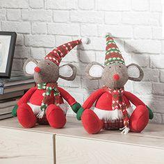Figura de ratón 33cm Christmas Diy, Xmas, Christmas Ornaments, Navidad Diy, Year Of The Rat, Doll Furniture, Dolls, Mice, Holiday Decor