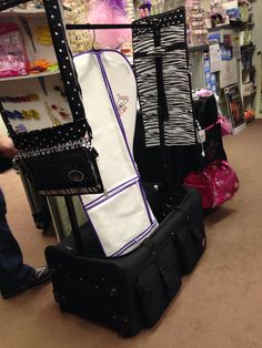 Dance Costume Rack And Rolling Make Up Case With Cooler In