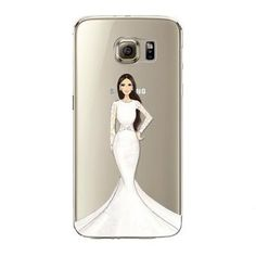 Phone Case for Samsung Galaxy S5 S6 S6Edge S6Edge+ S7 S7edge Cover Soft Silicon Painted Fashion Shopping Girl Mobile Phone Bag