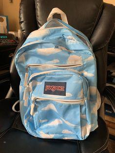 Jansport Superbreak Cloud Big backpack on Mercari Big Backpacks, Trendy Backpacks, Backpacks For Sale, School Backpacks, Aesthetic Backpack, Aesthetic Bags, Backpack For Teens, Backpack Bags, Shopping