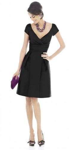 I don't know if I already pinned this, but I love the black/eggplant combo and the cut of this dress