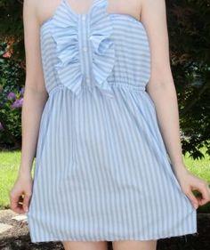 Man's shirt made into summer dress.
