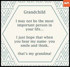 Grandchildren ...