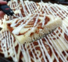 Cinnamon roll baked Pancake Squares | Big Red Kitchen - a regular gathering of distinguished guests