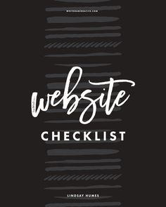 The Website Checklist is a 2-page worksheet that helps you organize and track your website and its connected accounts.