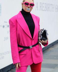 #lfw #pegahpourmand wearing #lindafarrow Linda Farrow, Blazer, How To Wear, Jackets, Women, Fashion, Down Jackets, Fashion Styles, Jacket