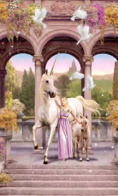 Unicorns and Pegasus bedding sets Unicorn Land, Unicorn Fantasy, Last Unicorn, Unicorn Painting, Unicorn Drawing, Unicorn Images, Unicorn Pictures, Beautiful Fairies, Beautiful Horses