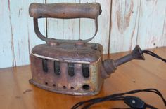 Industrial style antique iron upcycled into by KilowattsCreations, $100.00