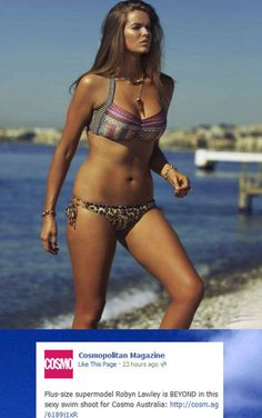 """Cosmo Labels Bikini Model """"Plus-Size,"""" Facebook Explodes: sickens me that this is what society thinks as plus size"""