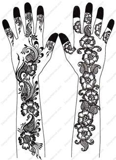 mehandi designs | Swanky Fancy Floral Mehndi Design by Tasneem | Designs Mehndi