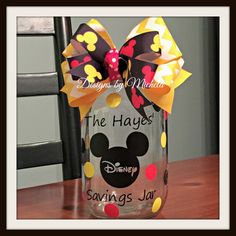 Disney Savings Jar, GF005 - Great for Kids! PLEASE SPECIFY MONOGRAM REQUIREMENTS AT CART CHECKOUT IN ADDITIONAL COMMENTS SECTION!