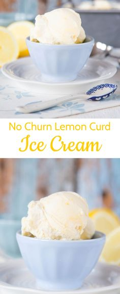 No churn lemon curd ice cream is simple, quick, only needs 4 ingredients but doesn't need an ice cream machine, but gives great results!