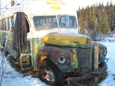 This was the rickety bus that Chris stayed at during his great Alaskan adventure.It wasn't nearly properly outfitted to be living in especially in the cold Alaskan spring.