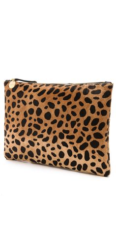 Clare V. Leopard Flat Haircalf Clutch - off with code: Leopard Clutch, Leopard Flats, Cheetah, Clare Vivier, Fashion Jackson, Purses And Bags, Leather Bag, Fashion Accessories, Gifts For Her