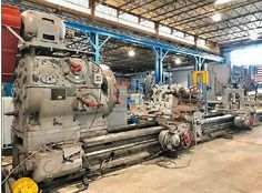 """Niles 75""""x27' engine lathe Lathe Machine Parts, Machine Tools, Lathe Operations, Recycling Machines, Fabrication Tools, Industrial Machinery, Industrial Photography, Simple Machines, The Old Days"""