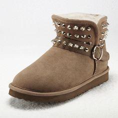 Vancl Fashion Rivet Trim Snow Boots Code: 20144494 - Women's Snow... ($112) via Polyvore
