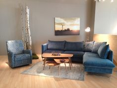 Bold and blue from Luonto, Finland in High Point Decor, Furniture, Comfortable, Sectional Couch, Sofas, Home Decor, Blue